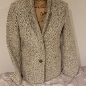 Banana republic tweed blazer coat